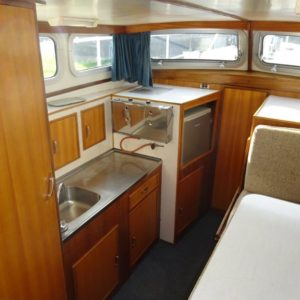Keuken aan boord van Biezekruiser 1050 AK